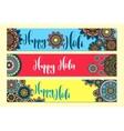 Holi Holiday Horizontal banners vector image