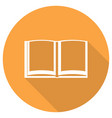book icon with long shadow vector image