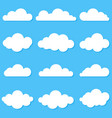a set different clouds cloud icon symbol or vector image
