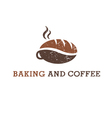Abstract of coffee and cookie vector image