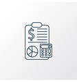 accounting icon line symbol premium quality vector image