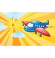 Aeroplane Flying Background vector image vector image