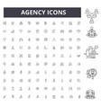 agency line icons signs set outline vector image