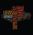 best ways to get home improvement loan text vector image vector image
