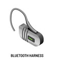 blue-tooth harness communication device telephone vector image