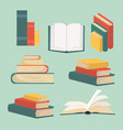 book of stacks in flat design collection vector image vector image