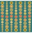 Bright colorful circles seamless background vector image