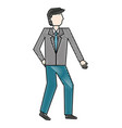 businessman in suit character manager vector image