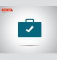 check mark flat icon sign logo vector image vector image