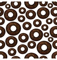 Chocolate doughnuts retro cartoon seamless pattern vector image