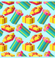 christmas bright gift pattern background vector image vector image