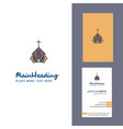 church creative logo and business card vertical vector image vector image