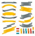 Collection of ribbons and labels Set of design vector image