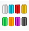 Color Cans Set vector image vector image