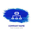 computer network icon - blue watercolor background vector image vector image