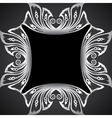 creative classic silver design background vector image vector image
