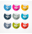 Discount Stickers Labels vector image vector image