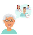 doctors for eldery patients or senior people vector image