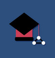 flat icon design molecules square academic cap in vector image vector image