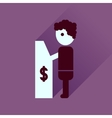 Flat icon with long shadow people ATM vector image vector image