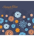 golden and blue night flowers horizontal vector image vector image