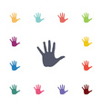 hand flat icons set vector image vector image