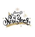 happy new year gold glittering lettering design vector image