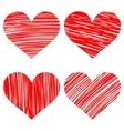 hearts set cartoon vector image vector image