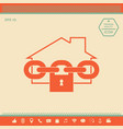 home lock icon vector image