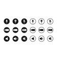 icon microphone sound and camera button for vector image vector image