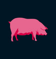 in flat style pig vector image vector image