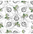 Ladybug Gray Pattern vector image vector image