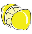 lemon drawing on white background vector image