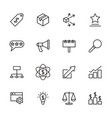 line icon set related to marketing activity