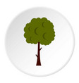 long tree icon circle vector image vector image