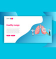 lung or lungs health doctor treatment concept for vector image