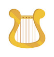 lyre string musical instrument isolated icon vector image