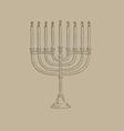 menorah icon vector image