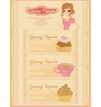 menu bakery and coffee shop vector image vector image