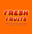 modern banner fresh fruits with bright crea vector image