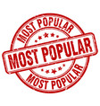 most popular red grunge round vintage rubber stamp vector image