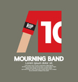 Mourning Band On Soccer Sleeve vector image vector image