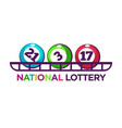 national lottery promotional logotype with vector image vector image