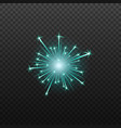 Neon blue fireworks or firecrackers icon realistic
