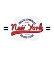 new york brooklyn vintage college t-shirt design vector image vector image