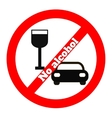 No alcohol icon vector image vector image