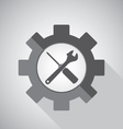 Object tool icon design Wrench with Screwdriver on vector image
