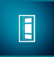 open door icon isolated on blue background vector image