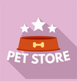 pet plate store logo flat style vector image