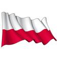 Poland National Flag vector image vector image